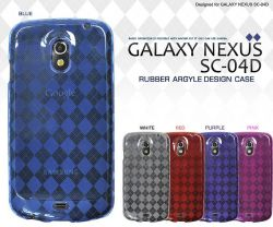 GALAXY NEXUS SC-04D アーガイル ラバーケース dsc04d-01☆GALAXY NEXUS SC-04D専用スマホケース スマホカバーの画像