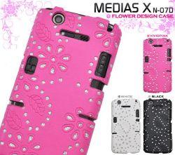 MEDIAS X N-07D用 フラワーデザインケース dn07d-05☆MEDIAS X N-07D専用スマホケース スマホカバーの画像