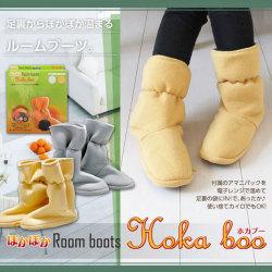 Hoka boo ホカブー ルームブーツ☆冷えがちな足元をポカポカに!市販のカイロもセットOK。の画像