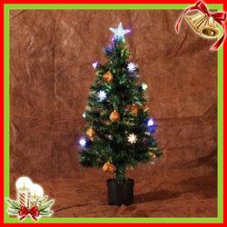 クリスマスツリー&オーナメント 03 グリーン×オレンジ(90cm)XTS-03☆クリスマスを華やかに彩るツリーとオーナメントのセット!の画像