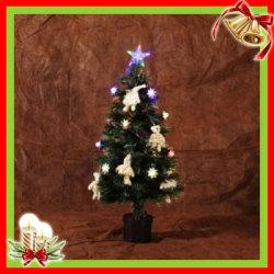 クリスマスツリー&オーナメント 07 グリーン×ホワイトラメ(90cm)XTS-07☆クリスマスを華やかに彩るツリーとオーナメントのセット!の画像