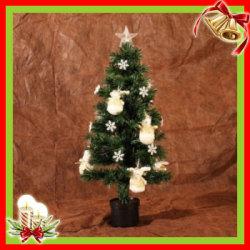 クリスマスツリー&オーナメント 08 グリーン×ホワイトGD(90cm)XTS-08☆クリスマスを華やかに彩るツリーとオーナメントのセット!の画像