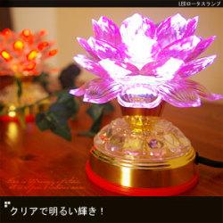 LEDロータスランプ18-hk5-3a☆クリアで明るい輝き!の画像