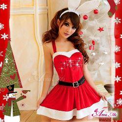 クリスマス☆サンタクロースコスプレセット s007 ☆クリスマスパーティーに!サンタのコスプレの画像