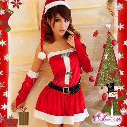 クリスマス☆サンタクロースコスプレセット s005☆クリスマスパーティーに!サンタのコスプレの画像