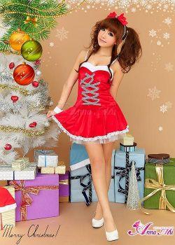 クリスマス☆サンタクロースコスプレセット s022☆クリスマスパーティーに!サンタのコスプレの画像