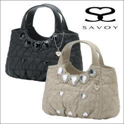 SAVOYバッグ3点セット☆ハンドバッグ、ショルダーバッグ、バッグインバッグのセットの画像
