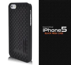 iPhone5専用メッシュブラックケースip5-3009bk☆iPhone5用スマホケース・スマホカバーの画像
