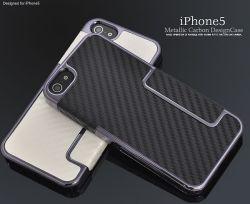 iPhone5専用メタリックカーボンデザインケースip5-6003☆iPhone5用スマホケース・スマホカバーの画像