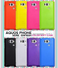 AQUOS PHONE SERIE ISW16SH用カラーソフトケースaisw16sh-02☆au AQUOS PHONE SERIE ISW16SH専用スマホケース・スマホカバーの画像
