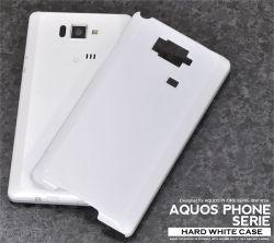 AQUOS PHONE SERIE ISW16SH用ハードホワイトケースaisw16sh-01wh☆au AQUOS PHONE SERIE ISW16SH専用スマホケース・スマホカバーの画像