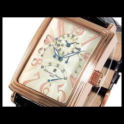 Salvatore Marra(サルバトーレ・マーラ) デュアルタイム自動巻き メンズ腕時計AC-W-SM6020-PGWH【送料無料】☆トリプルレトログラードの画像