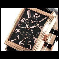 Salvatore Marra(サルバトーレ・マーラ) デュアルタイム自動巻き メンズ腕時計AC-W-SM6020-PGBK【送料無料】☆トリプルレトログラードの画像