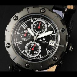 Salvatore Marra(サルバトーレ・マーラ) ビッグフェイスクロノグラフ メンズ腕時計AC-W-SM12116-IPBKBK【送料無料】☆インパクト大!の画像