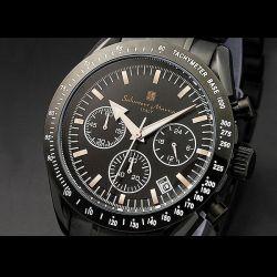 Salvatore Marra(サルバトーレ・マーラ) オールブラック・クロノグラフ メンズ腕時計AC-W-SM12113-IPBKPG【送料無料】☆大人テイストの画像