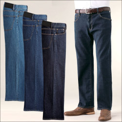 裾上げ済みストレッチジーンズ(3本組)【カタログ掲載】の画像