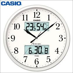 CASIO カシオ電波壁掛け時計 温時計・湿度計付きの画像
