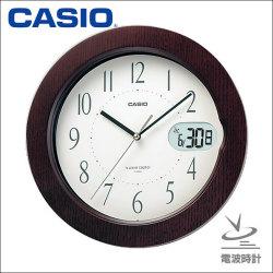 カシオ CASIO 電波掛け時計 IC-800J-5JF☆木目でシックな部屋作り、お洒落なインテリアクロックの画像