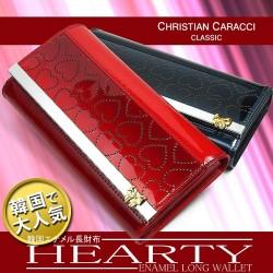 Cristian Caracci エナメルハート ロングウォレットCC-2001☆今期大注目のエナメル素材新作長財布の画像