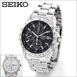 セイコー・クロノグラフ 海外仕様モデル【新聞掲載】腕時計 海外専用モデル SEIKO 敬老の日男性の画像