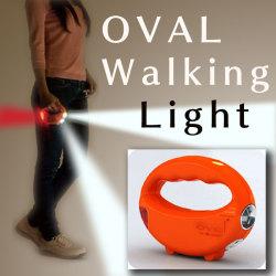 オーバル・ウォーキングライト☆災害時・備えあれば・憂いなし 周りが明るい、3方向LEDライトの画像