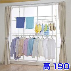 窓枠物干し MW-190N【カタログ掲載1303】☆組立簡単!日当たりのいい窓際で大量物干し!の画像