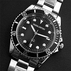 ペレバレンチノ ブラックシルエット腕時計☆高級ブランドペレバレンチノ最新モデルの画像