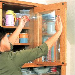 ガラス飛散防止フィルム(2本組)【カタログ掲載1303】☆ガラス面にピタッと貼るだけ、割れてもガラスが飛び散らないの画像