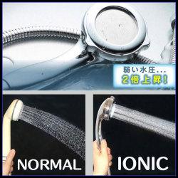 セラミック マイナス イオンシャワーヘッド☆殺菌、浄水、節水!新型シャワーヘッド!の画像