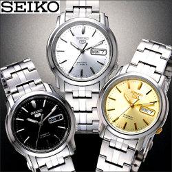 セイコー5日本生産モデル腕時計【送料無料】☆自動巻き・中三針・日付・曜日・防水の5機能搭載の画像