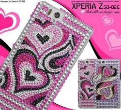 Xperia Z SO-02E用デコハートケースdso02e-31☆ドコモエクスペリアZ専用スマホカバー(スマホケース)の画像