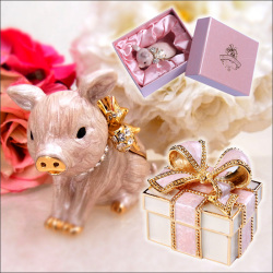 ジュエリーケース【カタログ掲載1306】☆とっておきのジュエリーを、飾って楽しめるキラキラ輝く愛らしいジュエリーボックス♪の画像