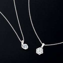 1.79ct&1.4ctCZダイヤモンドペンダント2個セット【新聞掲載】の画像
