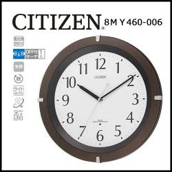 シチズン 自動点灯機能付電波掛時計 リバライトF☆暗くなると自動的に文字板が光る、便利な全面点灯電波掛時計の画像