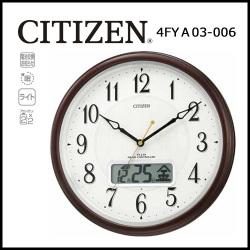 シチズン 自動点灯機能付電波掛時計 ピュアカレンダーM03 ☆便利な液晶機能つき!信頼のCITIZEN 電波掛時計の画像