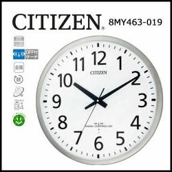 シチズン オフィスタイプ電波掛時計 スペイシーM463【送料無料】☆見やすい文字盤のオフィスタイプ電波掛時計の画像