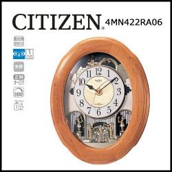 電波からくり時計 掛け時計 スモールワールドソルシアN【送料無料】☆毎正時にメロディに合わせて文字盤が変化するからくり時計!の画像