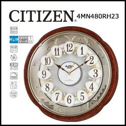 電波からくり時計 掛け時計 スモールワールドコンベルS【送料無料】☆毎正時にメロディに合わせて文字盤が変化するからくり時計!の画像