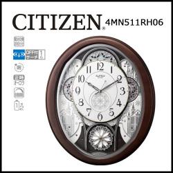 電波からくり時計 掛け時計 スモールワールドノエルW【送料無料】☆毎正時にメロディに合わせて文字盤が変化するからくり時計!の画像