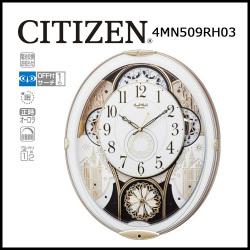 電波からくり時計 掛け時計 スモールワールドノエル 白【送料無料】☆毎正時にメロディに合わせて文字盤が変化するからくり時計!の画像