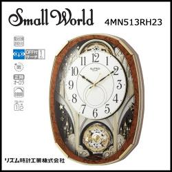 電波からくり時計 スモールワールドノエルM【送料無料】☆毎正時にメロディに合わせて文字盤が変化するからくり時計!の画像