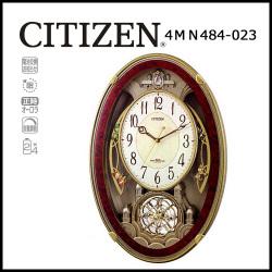 シチズン 電波掛時計 パルミューズクインダムDX【送料無料】☆毎正時に美しいメロディが流れる時刻合わせ不要の電波時計の画像