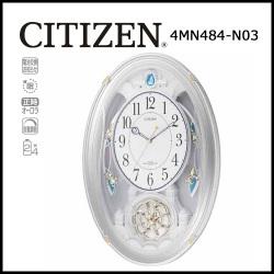 シチズン 電波掛時計 パルミューズクインダムN【送料無料】☆毎正時に美しいメロディが流れる時刻合わせ不要の電波時計の画像