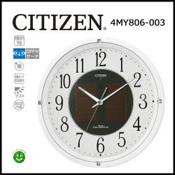 シチズン ソーラー電源電波掛時計 エコライフM806☆ソーラー&電波によるメンテナンスフリークロック!の画像
