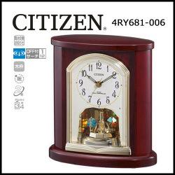 シチズン 電波置時計 パルロワイエ R681【送料無料】☆高級光沢仕上げのおしゃれな電波時計の画像