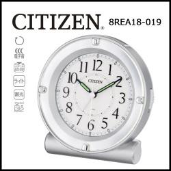 シチズン 目覚し時計 セリアRA18 シルバーメタリック色(白)の画像