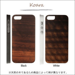 iPhone5/5S スマホケース リアルウッドケース ジェニュイン コアラ I1461i5の画像