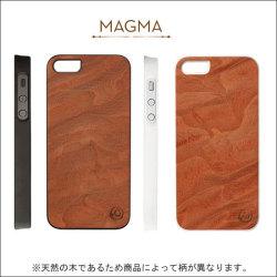 iPhone5/5S スマホケース リアルウッドケース ジェニュイン マグマ I1507i5の画像