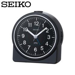 セイコー SEIKO 目覚まし時計 KR324K 置き時計 電波時計 アナログ 黒 SEIKO CLOCKの画像