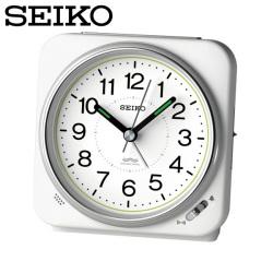 セイコー SEIKO 目覚まし時計 KR326W 置き時計 電波時計 アナログ 白 SEIKO CLOCKの画像